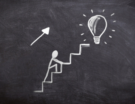 Stepping up the stairs towards brighter future. Boost your sales growth.